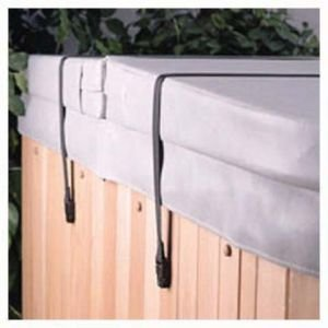 Hot Tub Spa Cover Secure Straps W/ Pinch Release & Keys (Down Cover Tie Spa)
