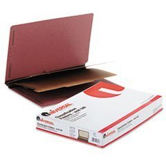 Universal 10316 Pressboard End Tab Classification Folders, Legal, Six-Section, Red, 10/Box by Universal