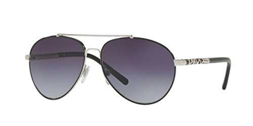 Burberry Women's 0BE3089 Silver/Gradient Grey - Sunglasses Ladies Burberry