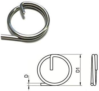 1.25 x 15 mm tama/ño del paquete A4 Split chaveta anillo T316 de acero inoxidable grado marino 20
