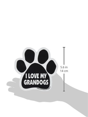 Picture of Imagine This Paw Car Magnet, I Love My Grandogs, 5-1/2-Inch by 5-1/2-Inch