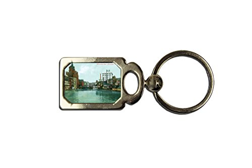Milwaukee River, Milwaukee, Wi One Side Framed Metal Key Chain from Style in Print