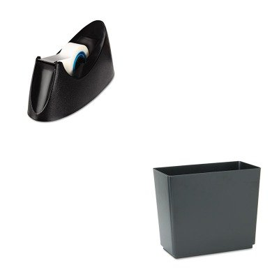 KITRCP25051UNV15001 - Value Kit - Rubbermaid Designer 2 Wastebasket (RCP25051) and Universal Desktop Tape Dispenser (UNV15001)