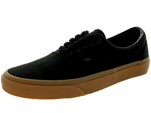 Double Canvas and Unisex Stitched Style Gum Low Waffle Vans Original Shoes Classic Skate Classic Top Lace Era Durable Black in up Outsole gS7Zx6n