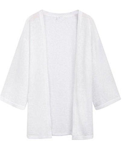 [サ二ー] カーディガン 透け感 レディース 長袖 夏 大きいサイズ Vネック ゆったり 無地 オフィス 薄手 ロング uvカット
