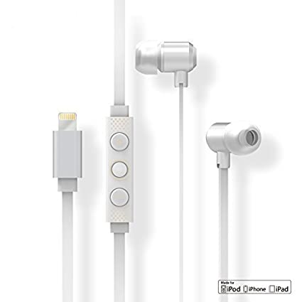 42af98ce677 Image Unavailable. Image not available for. Color: Lightning Earbud  Headphones for Apple iPhone X, 8 ...
