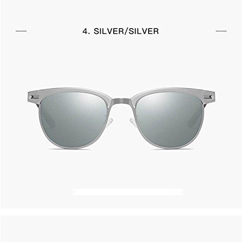 Sol Conducción De Gafas Pequeñas Gungray De Silver Sol Polarización De Hombres Clásica RPFU Silver De Gafas De De De Gafas Sol Los Gafas Blue vaw6zq