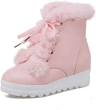 d9e431a9d147 Webb Perkin Women Round Toe Lace Up Winter Shoes Hidden Heel Non-Slip Ankle  Boots