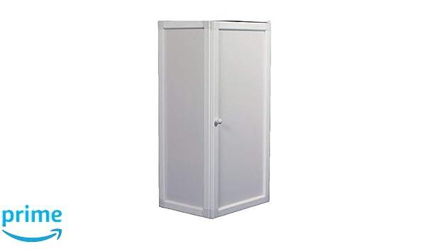Caseta para calentador aluminio blanca, protege de aire, agua, animales. Puerta abatible: Amazon.es: Bricolaje y herramientas