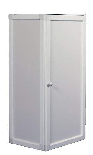 Caseta para calentador aluminio blanca, protege de aire, agua, animales. Puerta abatible