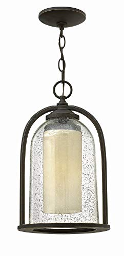 Hinkley 2612OZ Americana One Light Hanging Lantern from Quincy collection in Bronze/Darkfinish,