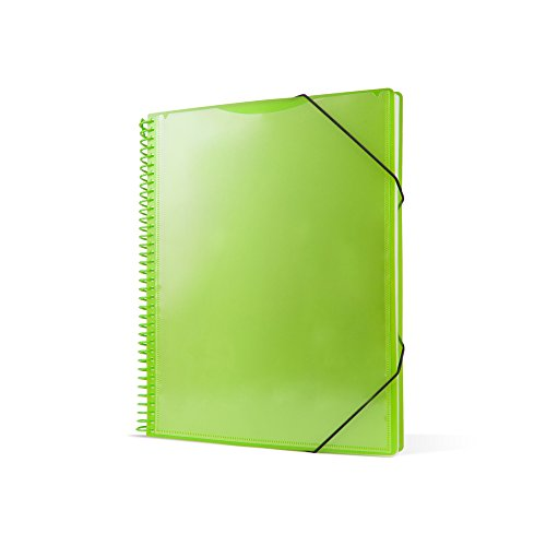 Pryse 4240054–Spiral Folder with 50Sleeves, A4, Green by PRYSE (Image #2)