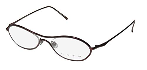 Kata Tempo For Ladies/Women Designer Full-Rim Shape Titanium Light Style Spectacular Eyeglasses/Glasses (52-19-140, Prune)