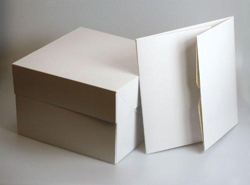 Bianco scatole torta–20, 3cm quadrato (200mm SQ.) (Confezione da 5) Bianco scatole torta-20 Culpitt