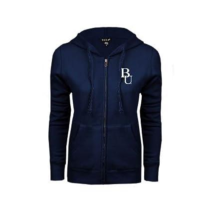 Amazon.com   Belmont ENZA Ladies Navy Fleece Full Zip Hoodie  BU ... ea31da36f003
