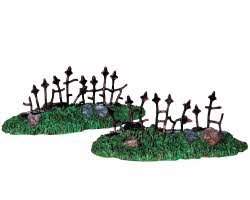 Lemax Spooky Town Rusty Old Fence Set of 2 # 94976