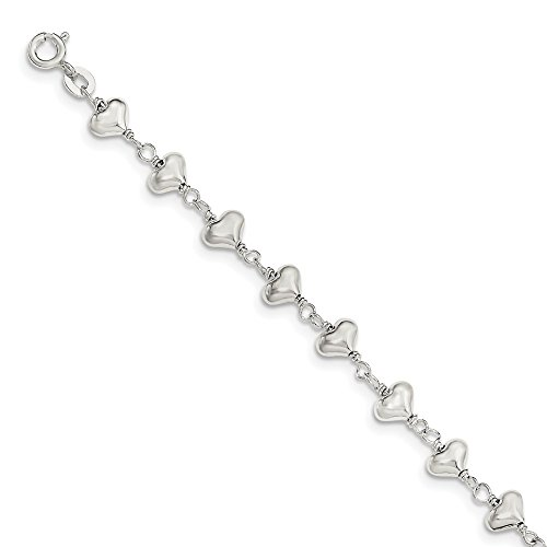 Sterling Silver Polished Heart link -