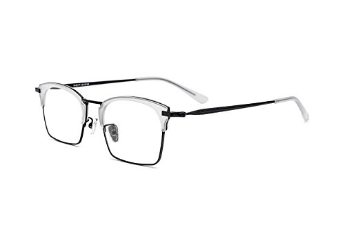HEPIDEM Acetate Women Optical Glasses Frame Square Eyeglasses Spectacle Eyewear 8003 (Clear - Website Eyewear