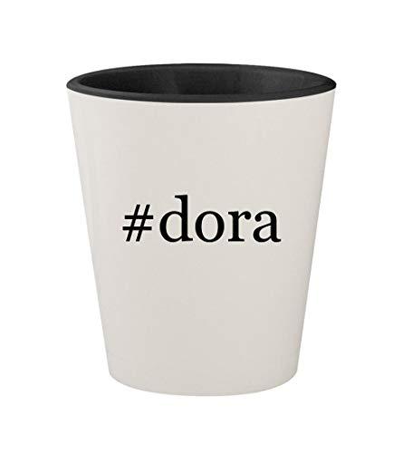 #dora - Ceramic Hashtag White Outer & Black Inner 1.5oz Shot Glass ()