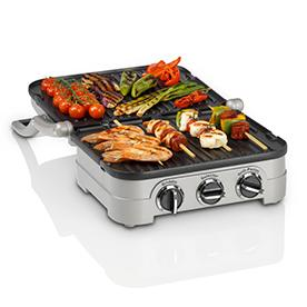 Cuisinart Griddle and Grill GR4CU grilling kebabs