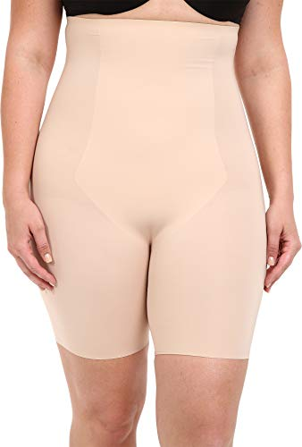 SPANX Women's Plus Size Thinstincts High-Waisted Mid-Thigh Short, Soft Nude 1X