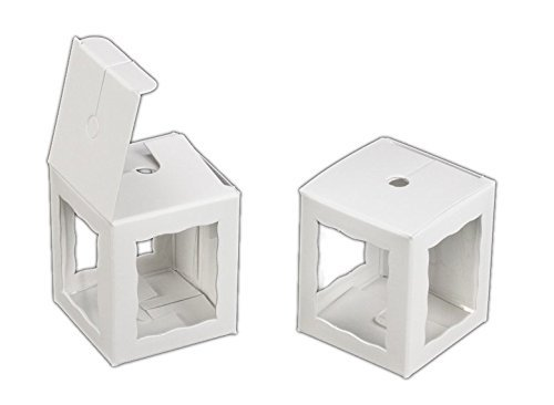 """Pack of 25 1.75x1.75x2"""" inch Cake Pop Windowed Bakery Boxes - Eco"""