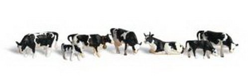 Woodland Scenics N Holstein Cows (Collectible Train Accessory)