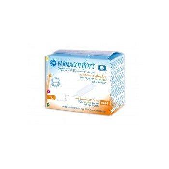 Tampones Digitales (sin aplicador) de algodón ecológico Farmaconfort Super Plus 15 unds