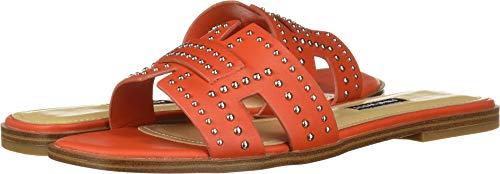 Nine West Women's Genesia Studded Slide Sandal Orange 7 M US (Woman Shoes Flat Nine West)