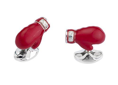 Glove Cufflinks - DEAKIN & FRANCIS Silver Boxing Glove Cufflinks