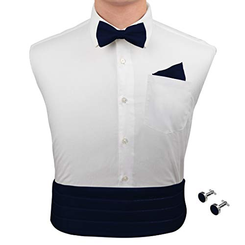 7de4482ad375 Epoint Men's Fashion Multicolored Silk Solid Cummerbund for Mens Gift Bow  Tie Set