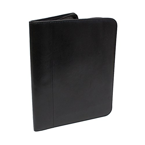 Four Point CEGRZCKBK - Carton of 10 Sewn Professional Zippered Pad folio / Portfolio Pad Holder, Black Color, Includes Pad and inside Pocket with cardholders by Binders.com
