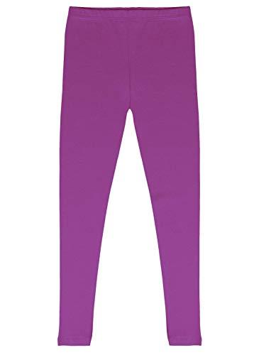 - CAOMP Girls'%100 Organic Cotton Leggings for School or Play (7-8, Purple)