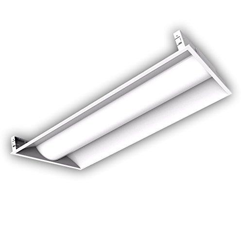 LED 2x4 Volumetric Troffer - 50W White Frame, Dimmable, 5000K (Daylight White), 5700 Lumen, DLC Qualified and ETL Listed