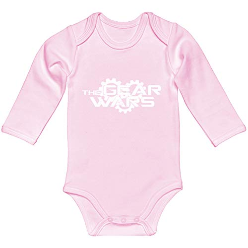 Baby Romper The Gear Wars Light Pink for 12 Months Long-Sleeve Infant Bodysuit ()