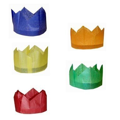 Tissue Paper Cracker Hats for Christmas Xmas & Wedding Crackers - 12 pack by MustBeBonkers
