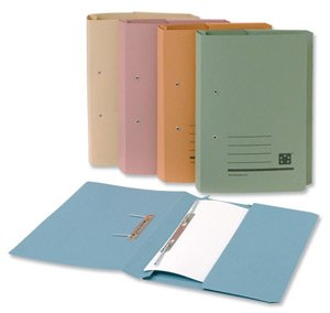 5 Star Transfer Spring File with Pocket 315gsm 38mm Foolscap Green [Pack of 25]