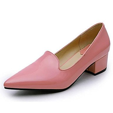 Red Chunky Leather Pink Summer 5 Black Others 5 Women'sHeels EU37 Heels Heel 5 CN37 Others US6 UK4 Patent Casual 7 wvWFXq