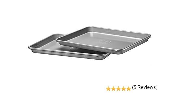 KitchenAid KBNSS15JR - Bandeja para galletas con lados, color plateado, 25 x 38 x 2.5 cm, juego de 2 piezas: Amazon.es: Hogar