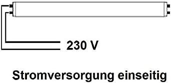 LED R/öhre T8/G13/90/cm 14/W Kaltwei/ß drehbar Stromversorgung einerseits ohne /Änderung Anlagen Original Rohre Neon Fluoreszierend