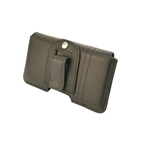 OrLine Echt Leder-Schutzhülle für Apple Iphone 6 4,7 Zoll mit Magnetverschluss Halterung an Gürtel mit Klammer und Schlaufe Holster Case Handytasche Hülle Echt ledertasche Tasche Horizontal in der Far