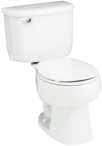 Sterling 402083-U-0 Riverton 12-Inch Rough-in Round Front Toilet with Insulated Tank, White