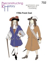 1680s to Early 1700s Frock Coat / Pirate Coat - Detailed Diagram Ear