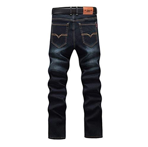 Alta A Autunno Da Pantaloni Giovane Moda Grau1 Jeans Alla Vita Slim Inverno Vintage Uomo E Denim xI8Hv8w