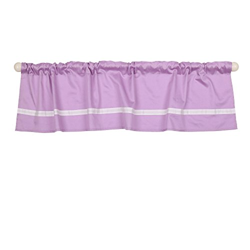 Purple Tailored Window Valance By The Peanut Shell   100  Cotton Sateen