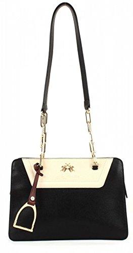 LA MARTINA New Rodriquez Shoulder Bag Black/Dark Brown