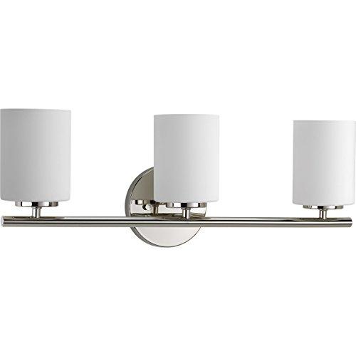 Progress Lighting P2159-104 Contemporary/Soft 3-100W Med Bath Bracket, Polished ()