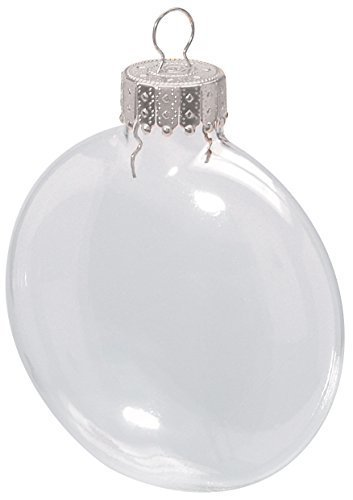 Darice 2.6 Inches Clear Disc Glass Ornaments - Pack of 6 ()