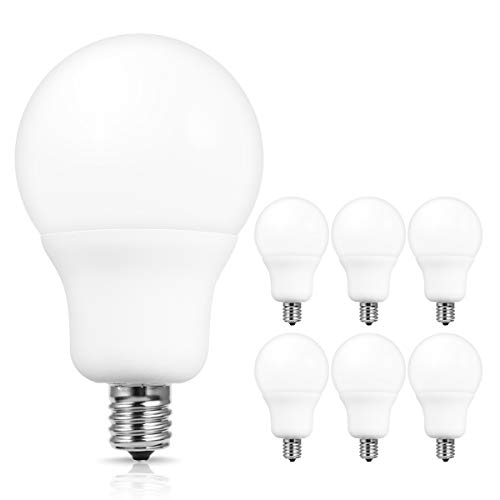 JandCase A19 LED Light Bulbs, E17 Intermediate Base, 7W(60W Incandescent Equivalent), 700 LM, Natural Daylight White 4000K LED Bulb for Ceiling Fan, Hom Lighting, Not Dimmable, 6 Pack