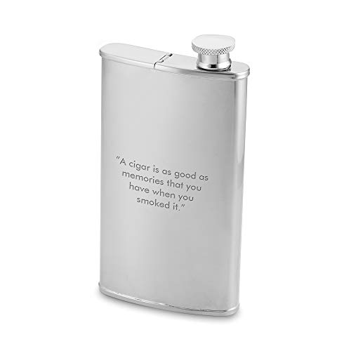Things Remembered Personalized Stainless Steel Cigar Flask with Engraving Included